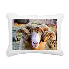 Kaleidescope Ram Lrg Rectangular Canvas Pillow