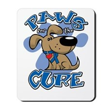 Paws-for-the-Cure-Colon-Cancer-blk Mousepad