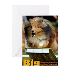 Shetland Sheepdog Agility Calendar Greeting Card