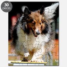 Shetland Sheedog Agility Beau Puzzle