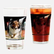 Shetland Sheedog Agility Beau Drinking Glass