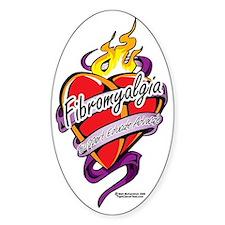 Fibromyalgia-Tattoo-Heart Decal