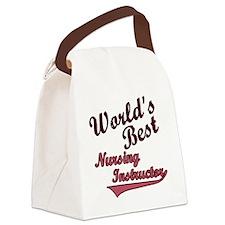 Worlds Best  Nurse Ins Pink Canvas Lunch Bag