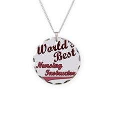 Worlds Best  Nurse Ins Pink Necklace