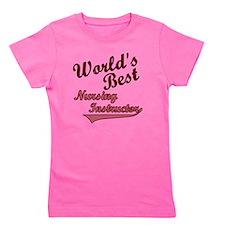 Worlds Best  Nurse Ins Pink Girl's Tee