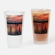 marina sunset Drinking Glass