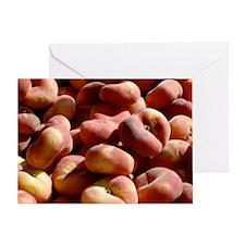donut peaches Greeting Card
