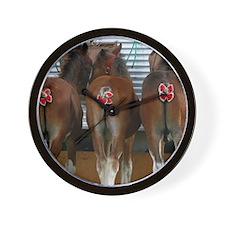 Horse Butts Wall Clock
