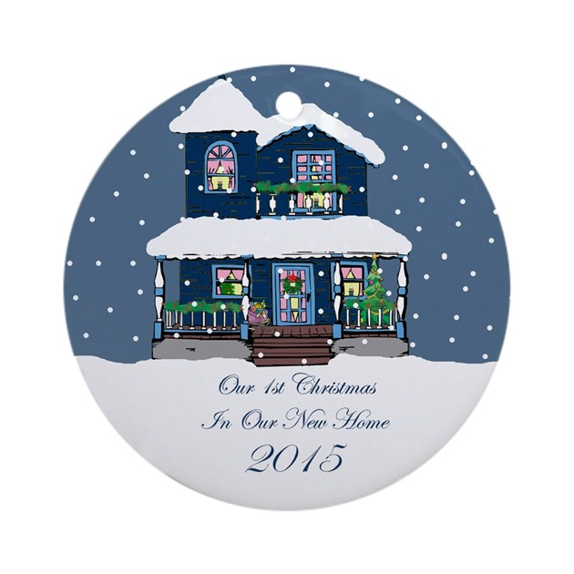 Cute First Home Christmas Ornament 2015 by sparetimedesign