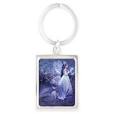 SoifraQueen, cropped Portrait Keychain
