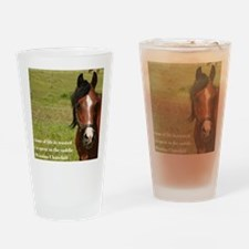 No Hour Wasted Drinking Glass
