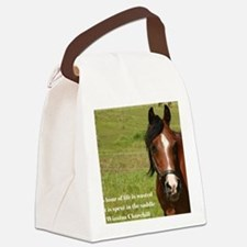 No Hour Wasted Canvas Lunch Bag