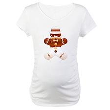 Mustache Gingerbread Man Cookie Shirt