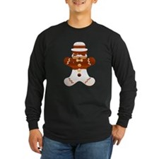 Mustache Gingerbread Man T