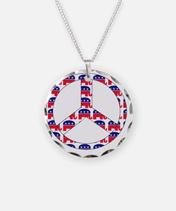 republican peace sign Necklace