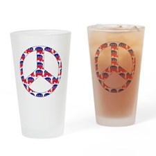 republican peace sign Drinking Glass
