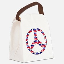 republican peace sign Canvas Lunch Bag