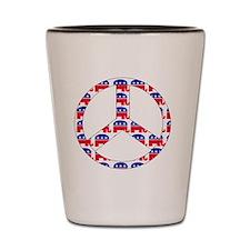 republican peace sign Shot Glass