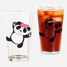 Happy Panda Drinking Glass