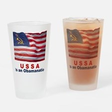 USSA-Obamanation Drinking Glass