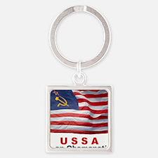 USSA-Obamanation Square Keychain
