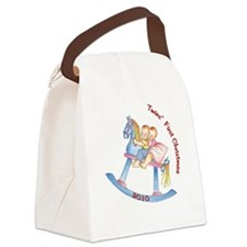 horse_round_ornament_2010 Canvas Lunch Bag