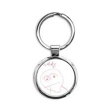 Daddy3 Round Keychain
