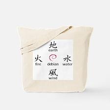 Elements of Debian Tote Bag