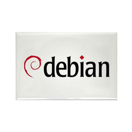 Debian Rectangle Magnet (100 pack)