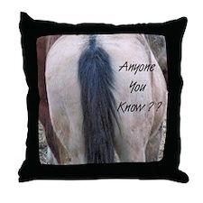 Horses Ass Throw Pillow