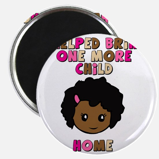 helped-bring-one-more-home- color girl Magnet