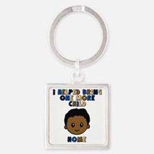 helped bring one more home boy cop Square Keychain