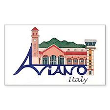 Aviano, Italy Rectangle Decal