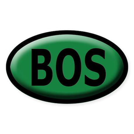 BOS Sticker/Decal - Bevel Dark Green, Black Text