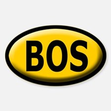 BOS Sticker/Decal - Bevel Yellow, Black Text