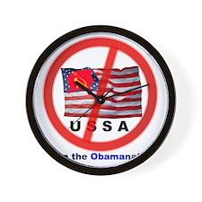 USSA8-Obamanation Wall Clock