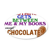 2-logo except chocolate large Oval Car Magnet