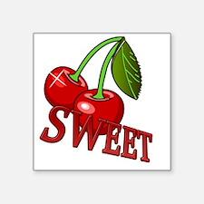 "cherry copy Square Sticker 3"" x 3"""