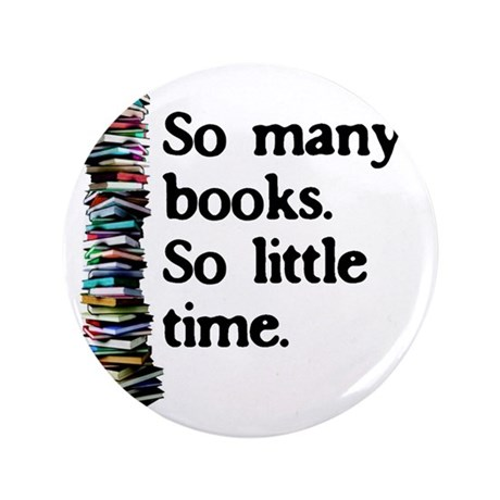 "2-logo so many books 3.5"" Button"