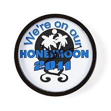 2011HONEYMOON2008BLACKBLUE Wall Clock