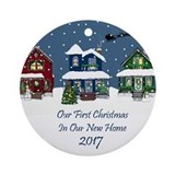 1st christmas at the lake 2017 Round Ornaments