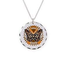 Multiple-Sclerosis-Butterfly Necklace Circle Charm