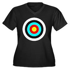 archerytarge Women's Plus Size Dark V-Neck T-Shirt