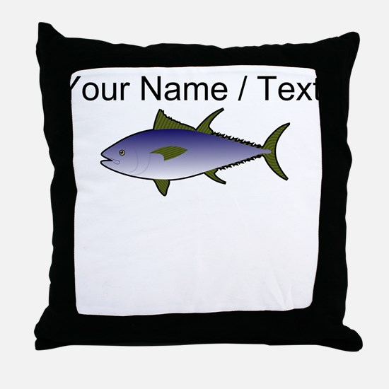 Custom Tuna Fish Throw Pillow