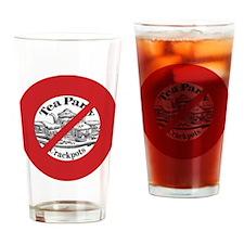 2-RedAntiTea2 Drinking Glass