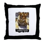 TIGERS ROCK Throw Pillow