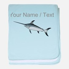 Custom Marlin baby blanket