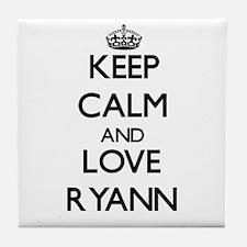 Keep Calm and Love Ryann Tile Coaster