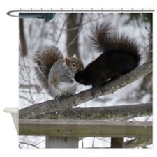 Squirrels Kissing Shower Curtain