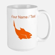 Custom Orange Trout Silhouette Mugs